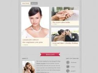 国外婚礼网站PSD分层素材