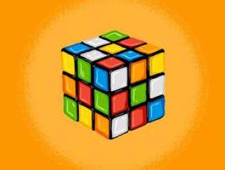 复古rubik' s立方体例证