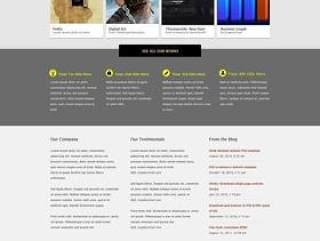 欧美风格企业网站模板三