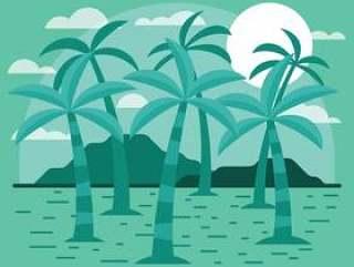 棕榈树例证