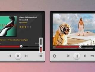 音乐视频播放器-PSD分层素材