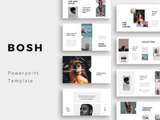 清洁,简单和最小的Powerpoint演示模板,BOSH - Powerpoint模板ppt模板