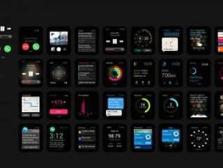Apple Watch 控件psd文件