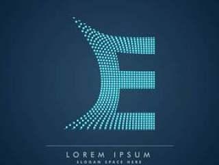 抽象的创意点标志字母E
