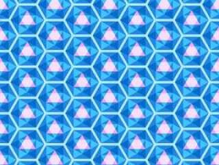 明亮的蓝色无缝万花筒图案矢量