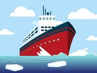 矢量破冰船船图