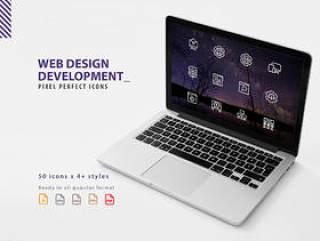 50网页设计开发图标设置像素完美集合,网页设计开发图标集
