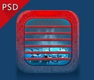 冰与火图标—PSD分层素材