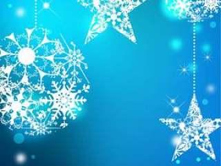 圣诞节_蓝色背景_垂直类型
