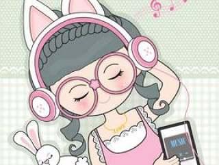听到音乐的女孩