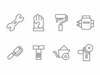 手工制作,DIY,Bricolage工具集图标