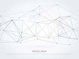 数字线框网格矢量背景技术网络中