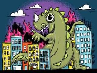 捣毁城市矢量的怪物