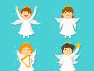 白色圣诞节天使