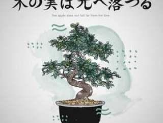 与盆景树传染媒介例证的日本信件行情