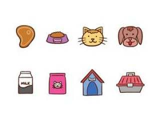 猫和狗的图标