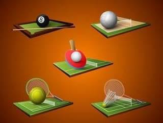 球类运动图标设计
