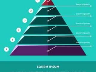 商业矢量平金字塔图