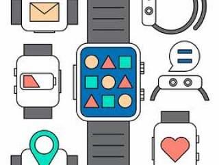 线性智能手表图标
