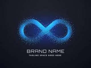 未来派无限商标概念设计传染媒介