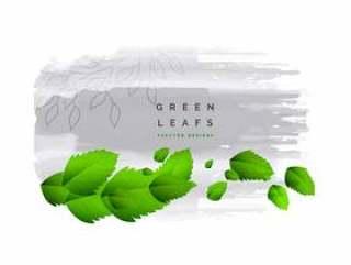 新鲜绿色的树叶矢量背景