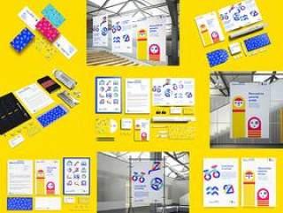 30款创意学校主题VI设计展示模板样机PSD源文件打包下载