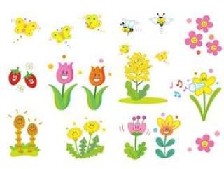 春天的可爱插图