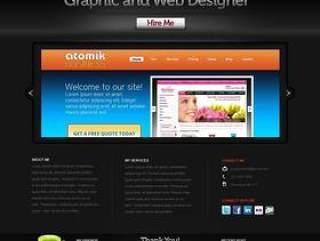 欧美风格企业网站模板九