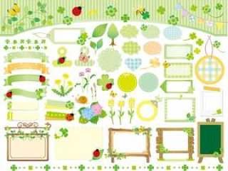 春季和初夏的材料收集