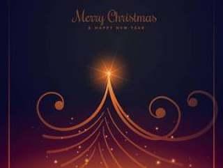 美丽的圣诞快乐圣诞贺卡设计与创意圣诞节