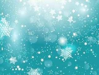 圣诞雪花和星星