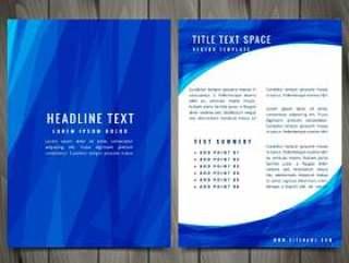 蓝色抽象宣传册传单创意矢量设计插画