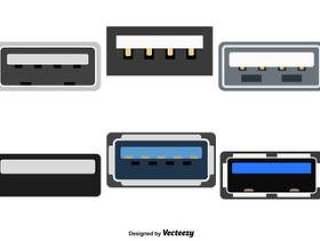 向量组的USB颜色图标
