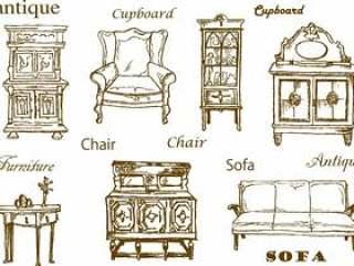 古色古香的家具手绘