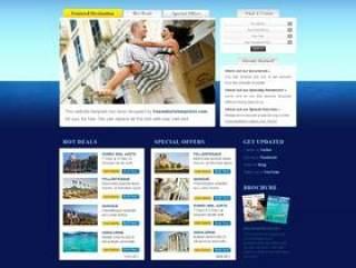 国外经典旅游网站PSD分层素材
