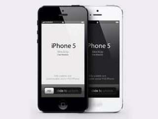 iPhone 5 Psd矢量模型