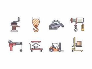 绞车和起重机图标
