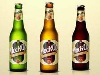 啤酒瓶Psd模拟模板