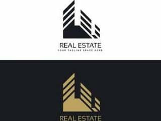 在最小的样式的房地产商标设计