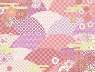 日本图案背景(多彩)02