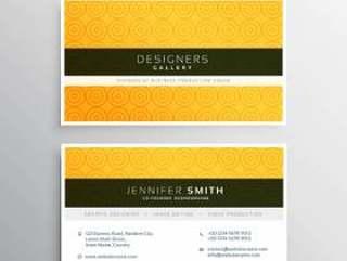与圈子patte的黄色最小的典雅的名片模板