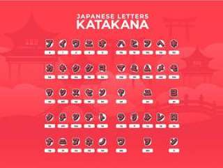 日文字母片假名字母表