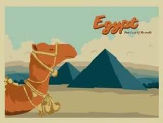埃及明信片矢量