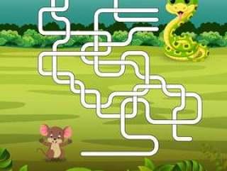 与蛇和老鼠的游戏模板