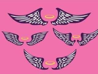 紫罗兰色的翅膀复古插画集