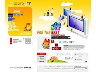 韩国商务型网站网页模板