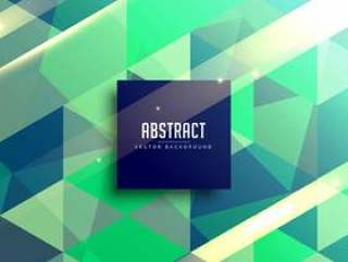 绿色和蓝色抽象几何背景设计