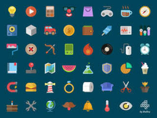 colorful_flat_icons_常用扁平图标