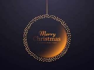 在创意圣诞节创意挂圣诞球装饰设计