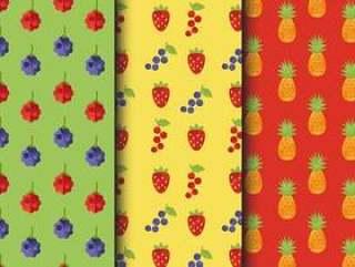的老式水果图案